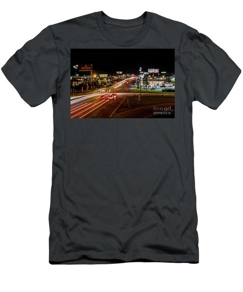 Washington Road At Night - Augusta Ga Men's T-Shirt (Athletic Fit)