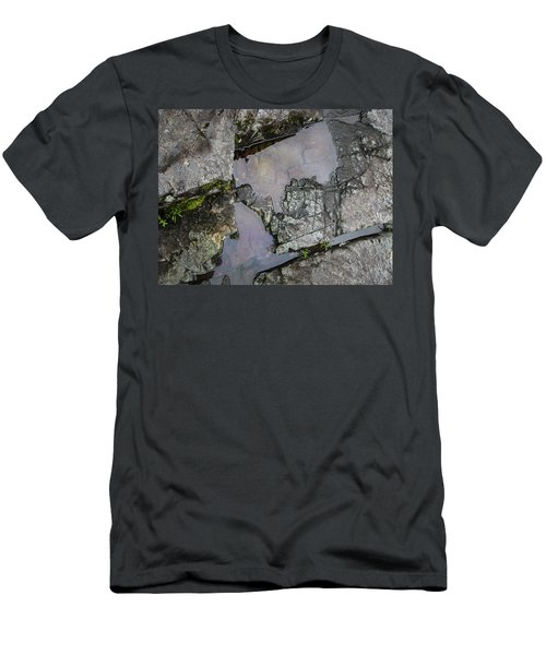 Men's T-Shirt (Athletic Fit) featuring the photograph Water On The Rocks 3 by Juan Contreras