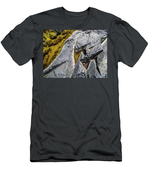 Men's T-Shirt (Athletic Fit) featuring the photograph Water On The Rocks 8 by Juan Contreras