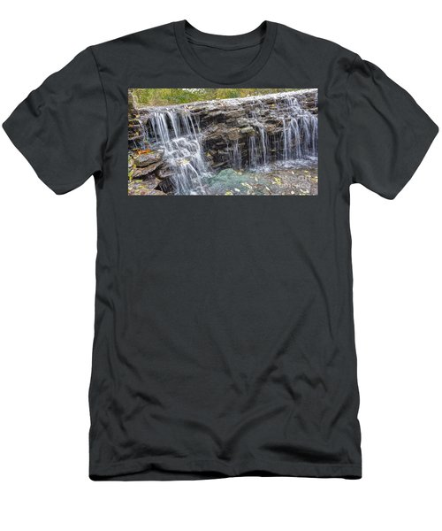 Waterfall @ Sharon Woods Men's T-Shirt (Athletic Fit)