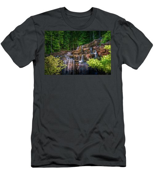 Men's T-Shirt (Athletic Fit) featuring the photograph Waterfall At Top Of The Rock by Allin Sorenson