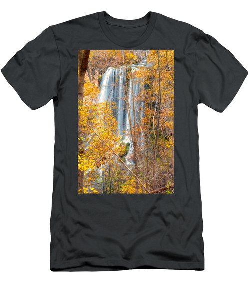 Men's T-Shirt (Athletic Fit) featuring the photograph Waterfall Backdrop by Russell Pugh