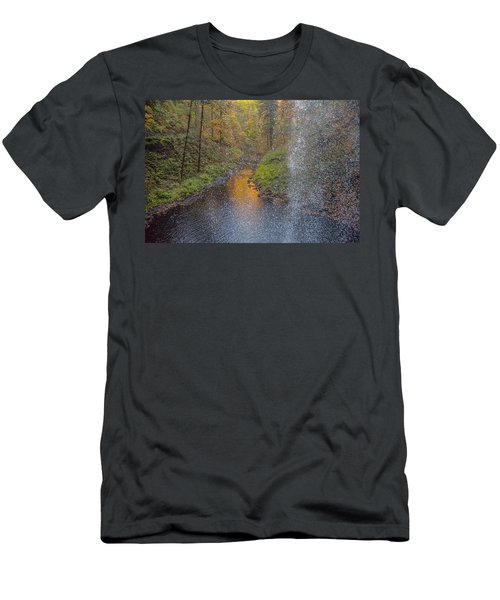 Waterfall Waterdrops Men's T-Shirt (Athletic Fit)