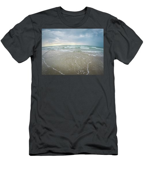 Men's T-Shirt (Athletic Fit) featuring the photograph Waves Crashing On Wrightsville Beach Before The Storm by Alex Grichenko