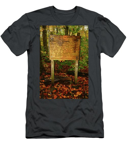 Men's T-Shirt (Athletic Fit) featuring the photograph Welcome To The Long Trail And The Vermont At by Raymond Salani III