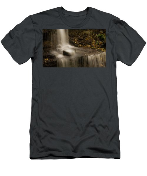 Men's T-Shirt (Athletic Fit) featuring the photograph West Milton Waterfall Details by Dan Sproul