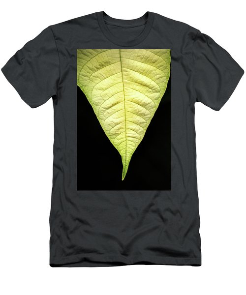 White Poinsettia Leaf Men's T-Shirt (Athletic Fit)