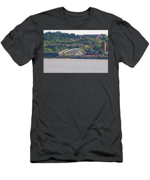 Wigg Island Swingbridge Men's T-Shirt (Athletic Fit)
