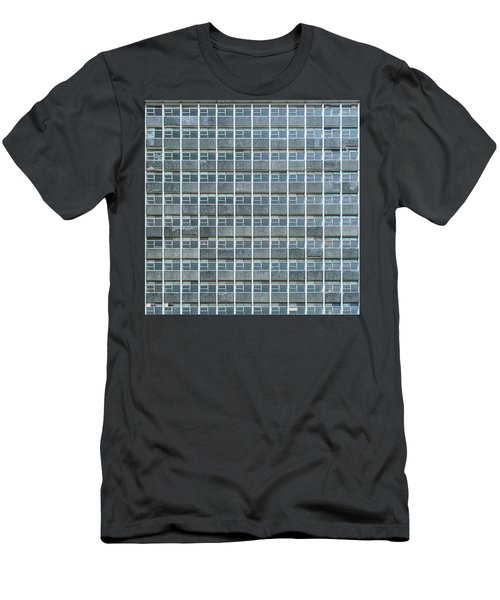 Windows Pattern Modern Architecture Men's T-Shirt (Athletic Fit)