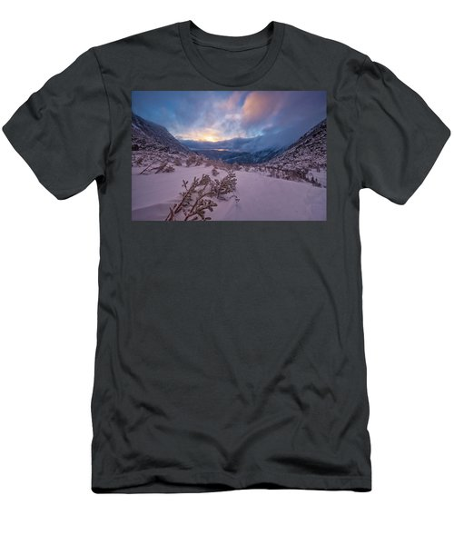 Windswept, Spring Sunrise In Tuckerman Ravine Men's T-Shirt (Athletic Fit)