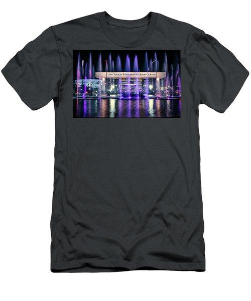 Winter At Long Beach Performing Arts Men's T-Shirt (Athletic Fit)