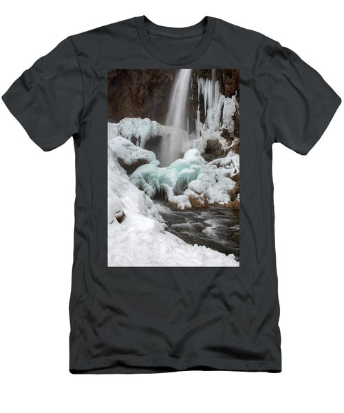 Winter At Rifle Falls Colorado Men's T-Shirt (Athletic Fit)