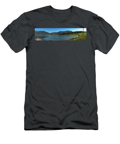 Winter Beach In Norway Men's T-Shirt (Athletic Fit)