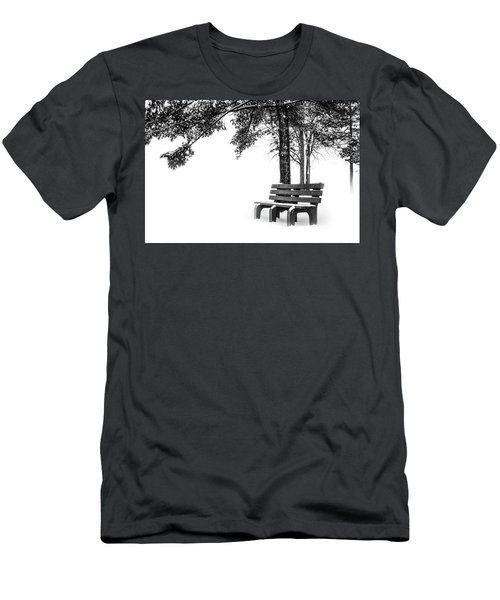 Men's T-Shirt (Athletic Fit) featuring the photograph Winter Bench  by Michael Arend