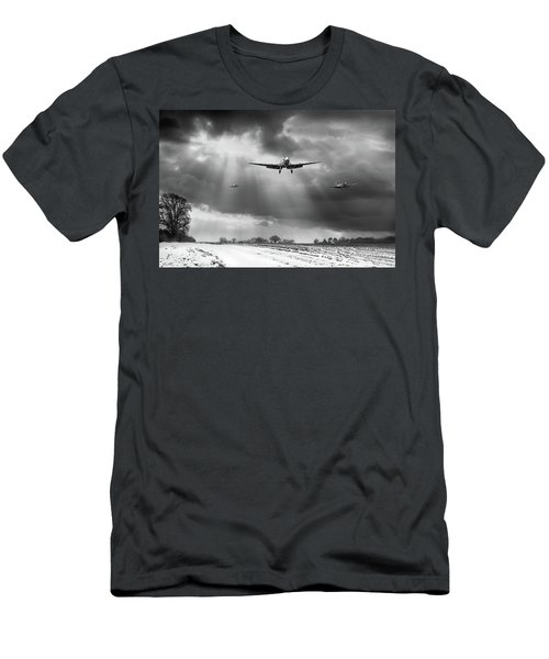 Men's T-Shirt (Athletic Fit) featuring the photograph Winter Homecoming Bw Version by Gary Eason