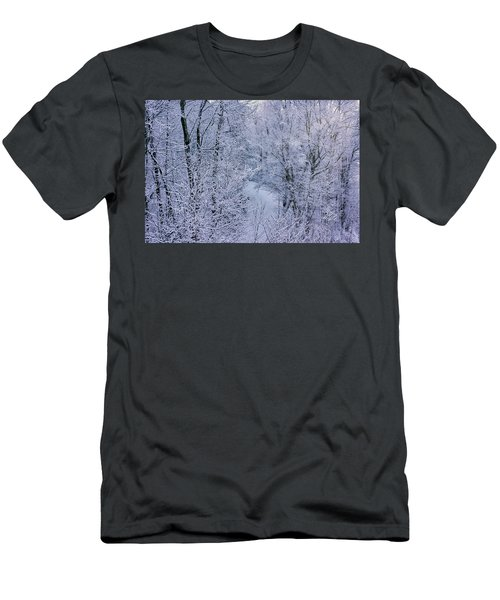 Winter Ice Storm Men's T-Shirt (Athletic Fit)