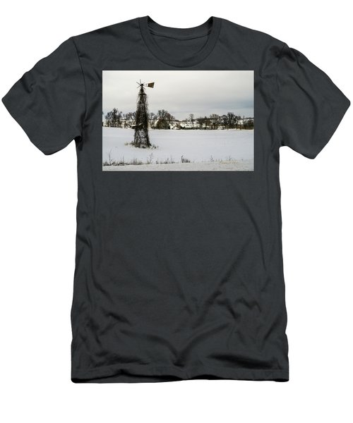 Men's T-Shirt (Athletic Fit) featuring the photograph Winter Land by Edward Peterson