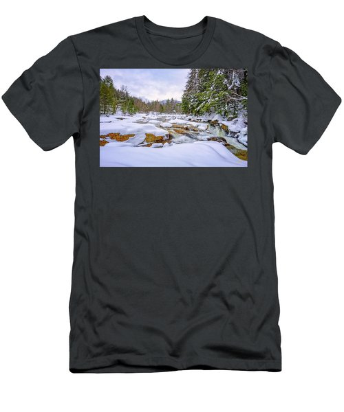 Winter On The Swift River. Men's T-Shirt (Athletic Fit)