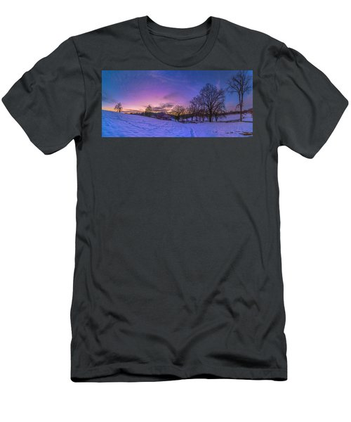 Winter Panorama Men's T-Shirt (Athletic Fit)