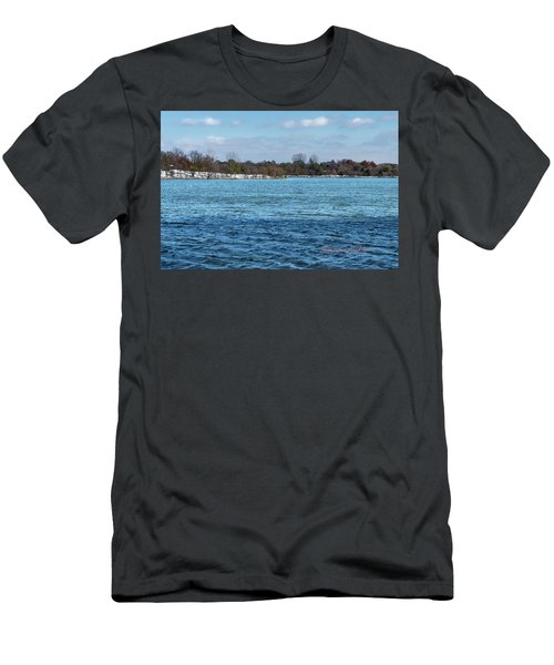Men's T-Shirt (Athletic Fit) featuring the photograph Winter Shoreline by Edward Peterson