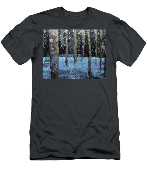 Wintry Scene I Men's T-Shirt (Athletic Fit)