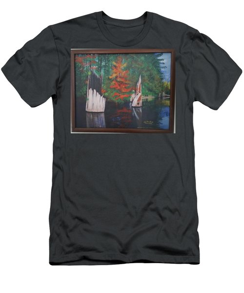 Wolf Lake On Vancouver Island  Men's T-Shirt (Athletic Fit)