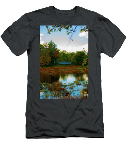 Wood Bridge In The Fall Men's T-Shirt (Athletic Fit)