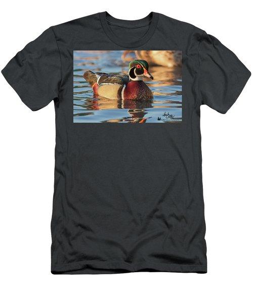 Wood Duck 4 Men's T-Shirt (Athletic Fit)