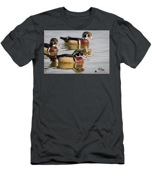Wood Duck Threesome Men's T-Shirt (Athletic Fit)