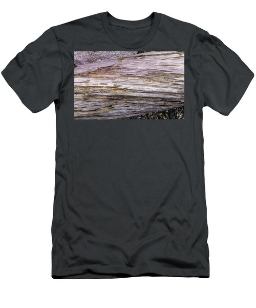 Men's T-Shirt (Athletic Fit) featuring the photograph Wood Log In Nature No.28 by Juan Contreras