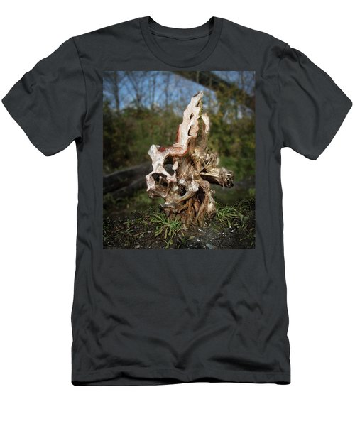 Men's T-Shirt (Athletic Fit) featuring the photograph Wood Logs In Nature No. 1 by Juan Contreras