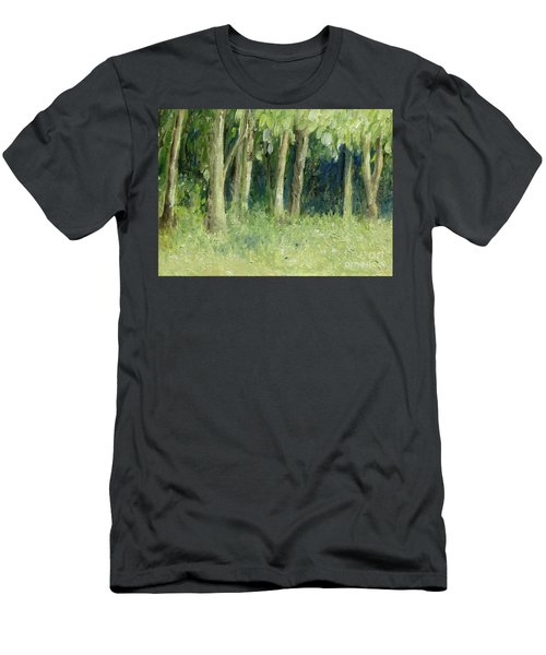 Woodland Tree Line Men's T-Shirt (Athletic Fit)