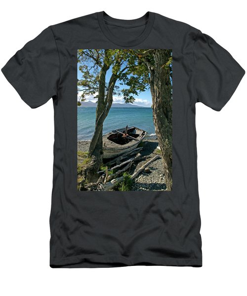 Wrecked Boat Patagonia Men's T-Shirt (Athletic Fit)