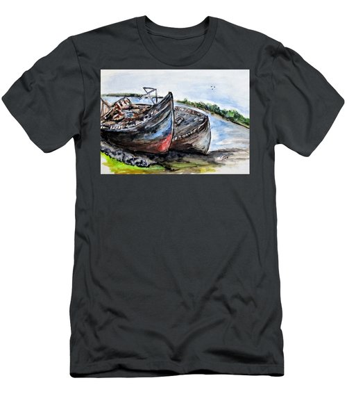Wrecked River Boats Men's T-Shirt (Athletic Fit)