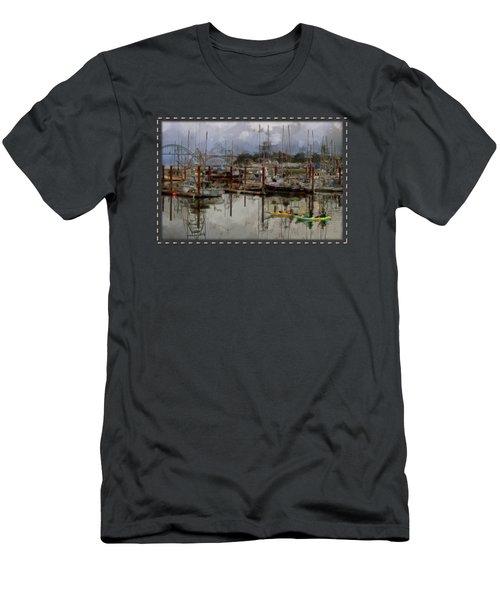 Yaquina Bay Kayaking Men's T-Shirt (Athletic Fit)