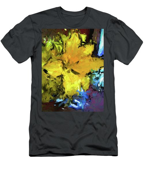 Yellow Flower And The Eggplant Floor Men's T-Shirt (Athletic Fit)