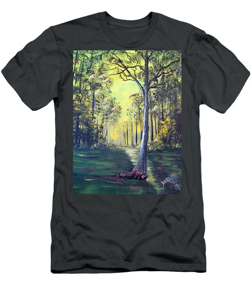 Yellow Forrest Men's T-Shirt (Athletic Fit)