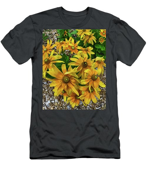 Yellow In Bloom Men's T-Shirt (Athletic Fit)