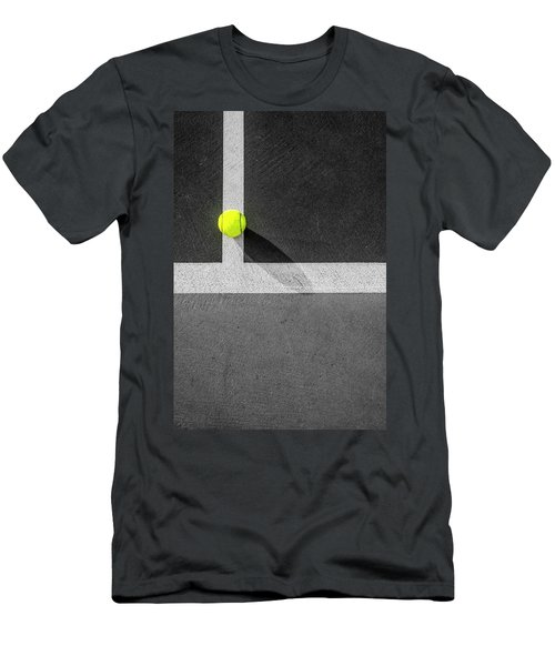 Yellow On The Line Men's T-Shirt (Athletic Fit)
