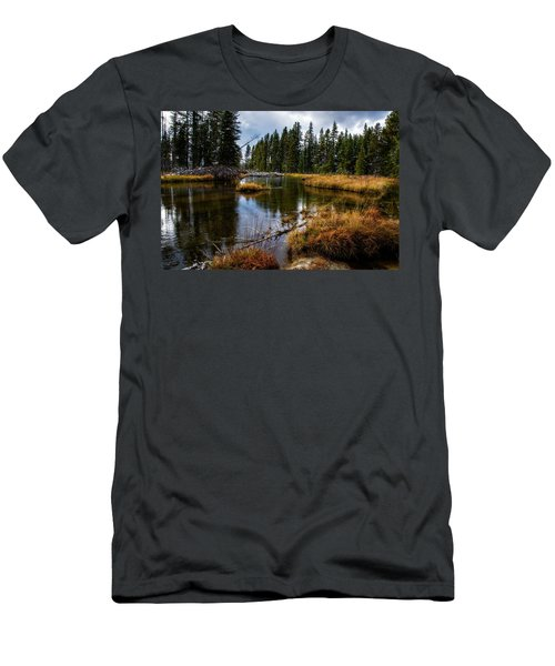 Men's T-Shirt (Athletic Fit) featuring the photograph Yellowstone National Park by Scott Read