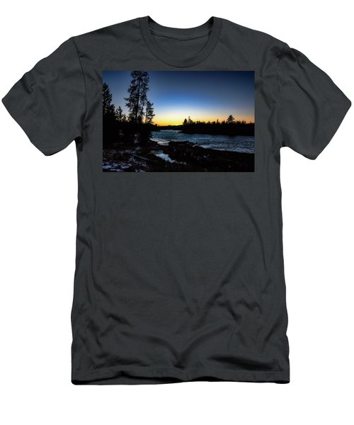 Men's T-Shirt (Athletic Fit) featuring the photograph Yellowstone River by Pete Federico