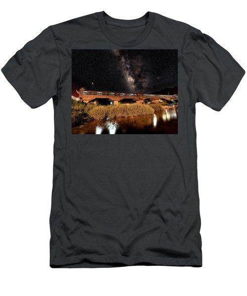Yonghe Bridge Milky Way Men's T-Shirt (Athletic Fit)