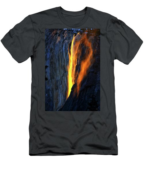 Yosemite Fire And Ice Men's T-Shirt (Athletic Fit)