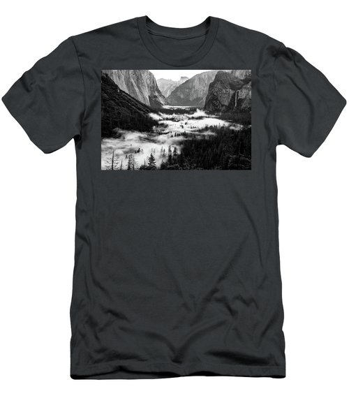 Men's T-Shirt (Athletic Fit) featuring the photograph Yosemite Fog 2 by Stephen Holst
