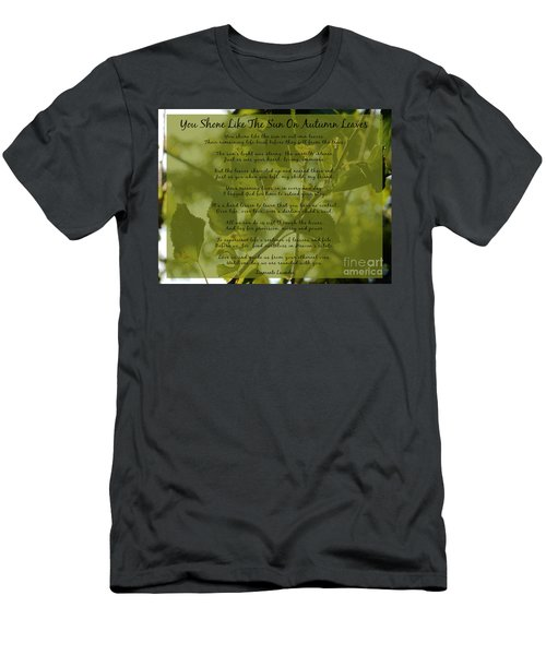 You Shone Like The Sun On Autumn Leaves Poem Men's T-Shirt (Athletic Fit)