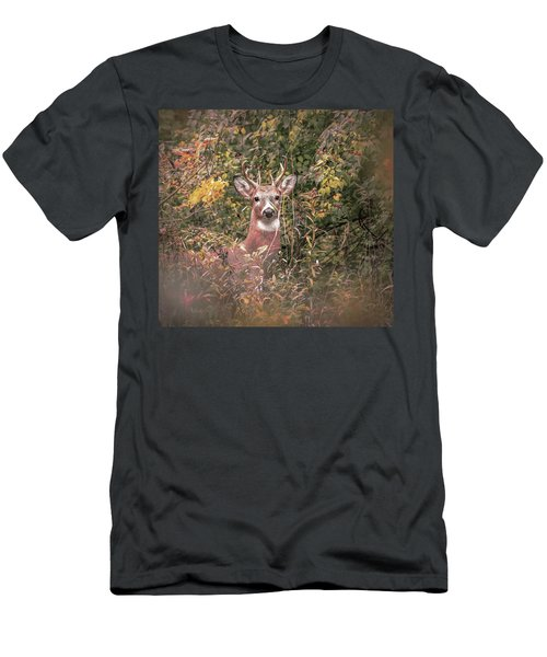 Men's T-Shirt (Athletic Fit) featuring the photograph Young Buck Portrait by Dan Sproul