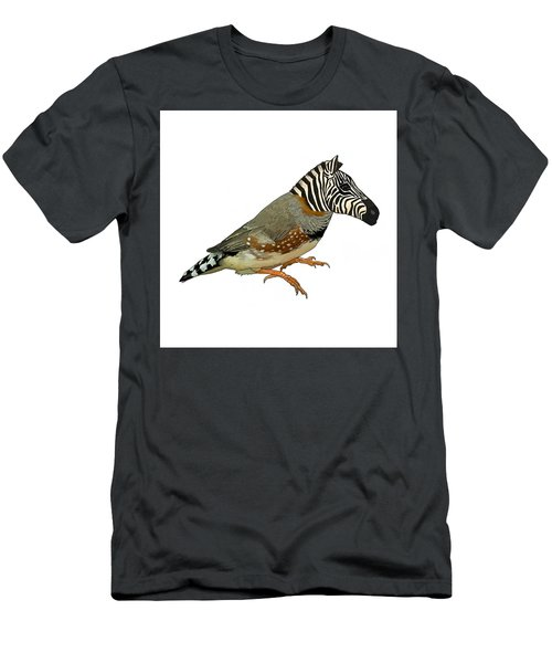Men's T-Shirt (Athletic Fit) featuring the drawing Z Is For Zebra Finch Thats Not A Zebra Finch by Joan Stratton