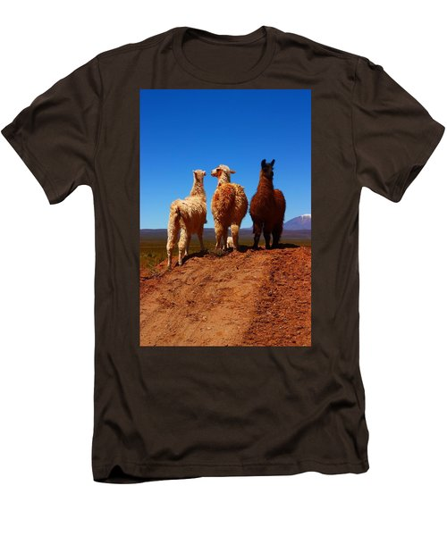 3 Amigos Men's T-Shirt (Slim Fit) by FireFlux Studios