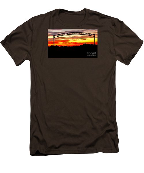 Beautiful Sunset And Emmett Sport Comples Men's T-Shirt (Slim Fit) by Robert Bales