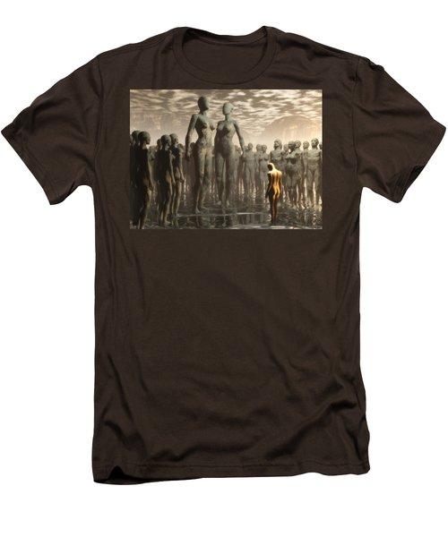 Men's T-Shirt (Slim Fit) featuring the digital art Fate Of The Dreamer by John Alexander